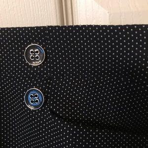 Size 18 Navt and white mini polka dot pants